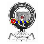 Escudo del clan de Spalding Tarjeta Postal