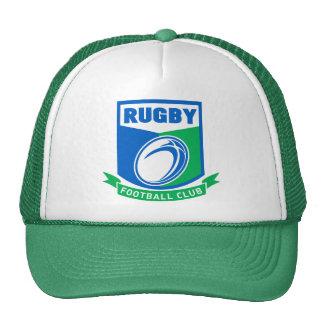 escudo del club del fútbol de la bola de rugbi gorra