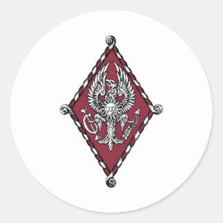 Escudo del color de PBP Pegatina Redonda