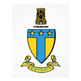 Escudo del color del Tau Omega de la alfa Tarjetón