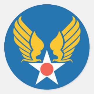 Escudo del cuerpo de aire del ejército etiqueta