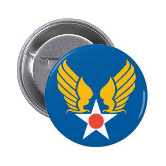 Escudo del cuerpo de aire del ejército pin redondo de 2 pulgadas