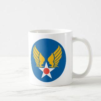 Escudo del cuerpo de aire del ejército taza de café