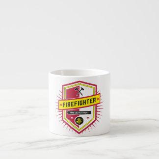 Escudo del cuerpo de bomberos taza espresso