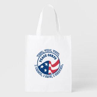 Escudo del cuerpo de paz VVV Bolsas Para La Compra