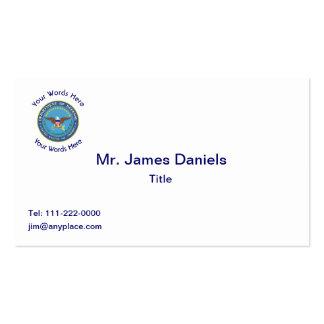 Escudo del Departamento de Defensa de los E.E.U.U. Tarjetas De Visita