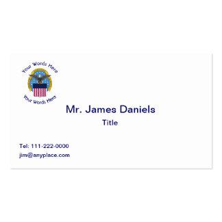 Escudo del diámetro de la Agencia de Inteligencia Tarjetas De Visita
