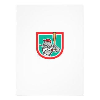 Escudo del dibujo animado del bateo del bateador d