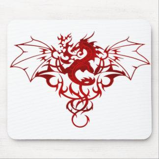 Escudo del dragón alfombrillas de raton