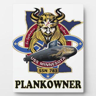 Escudo del dueño del tablón de SSN 781 USS Placa De Plastico