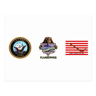 Escudo del dueño del tablón de SSN 781 USS Tarjeta Postal