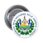 Escudo del EL Salvadore Pin Redondo De 2 Pulgadas