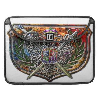 Escudo del escudo de Eagle del doble de la edición Funda Para Macbooks