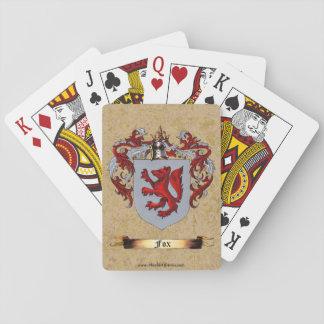 Escudo del Fox de brazos Baraja De Cartas