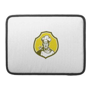 Escudo del frente del busto del cocinero del funda macbook pro
