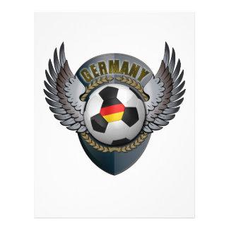 Escudo del fútbol de Alemania Tarjetas Informativas