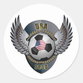 Escudo del fútbol de América Pegatinas Redondas