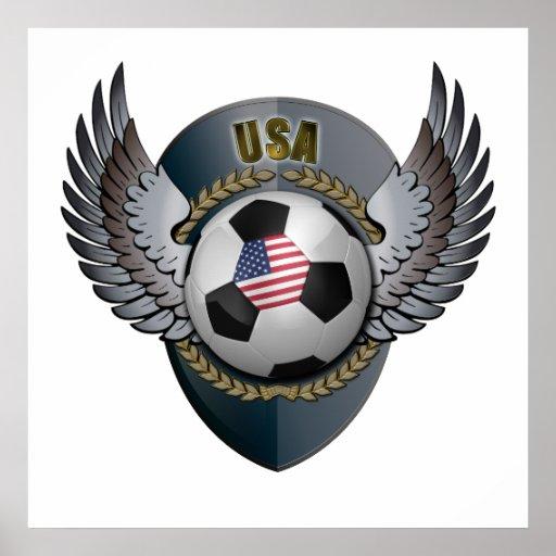 Escudo del fútbol de América Póster