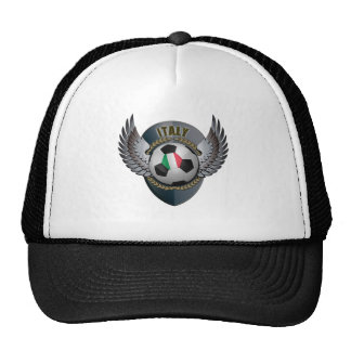 Escudo del fútbol de Italia Gorras De Camionero