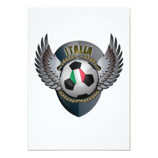 Escudo del fútbol de Italia Invitación 12,7 X 17,8 Cm