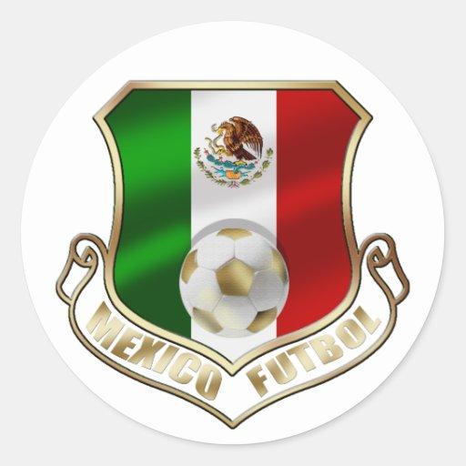 Escudo del fútbol del emblema de la insignia de pegatina redonda