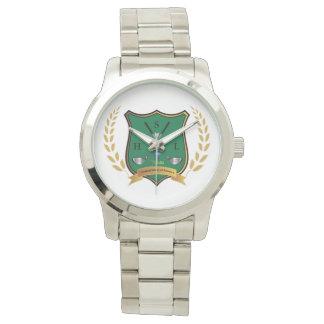 Escudo del GOLF con el reloj para hombre del