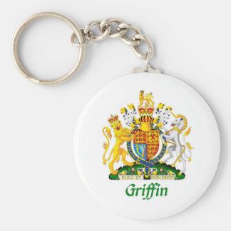 Escudo del grifo de Gran Bretaña Llavero