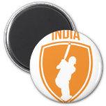 Escudo del grillo de la India Imán De Nevera