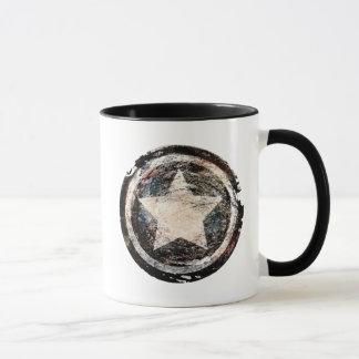Escudo del Grunge de capitán América Taza