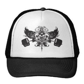 Escudo del guerrero del hierro gorros bordados
