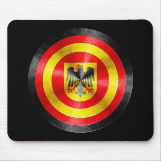 Escudo del héroe de capitán Alemania Tapetes De Raton