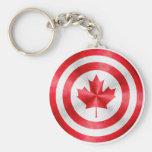 Escudo del héroe de capitán Canadá Llavero