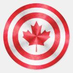 Escudo del héroe de capitán Canadá Pegatina