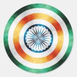 Escudo del héroe de capitán la India Pegatina Redonda