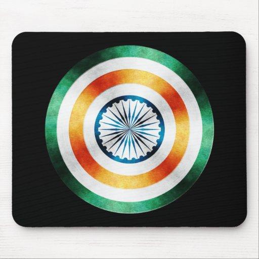 Escudo del héroe de capitán la India Alfombrillas De Ratón