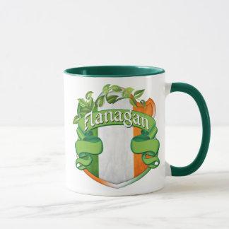 Escudo del irlandés de Flanagan Taza
