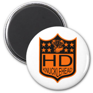 Escudo del Knucklehead Imán Redondo 5 Cm