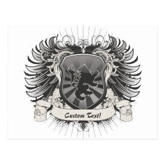 Escudo del león postales