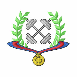 Escudo del levantamiento de pesas camiseta polo