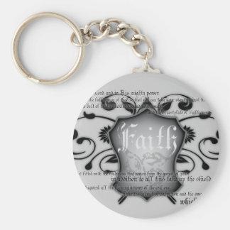Escudo del llavero cristiano de la fe (armadura de
