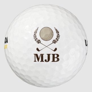 Escudo del monograma pack de pelotas de golf