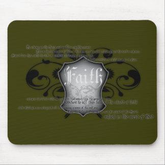 Escudo del mousemat de la fe (armadura de dios) alfombrilla de ratones