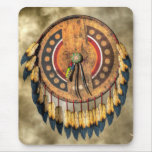 Escudo del nativo americano alfombrilla de ratones