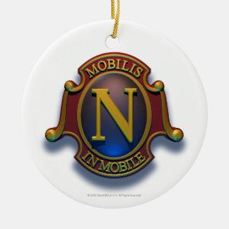 Escudo del nautilus N de David McCamant Adorno Redondo De Cerámica