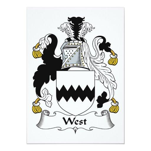 Escudo del oeste de la familia anuncios