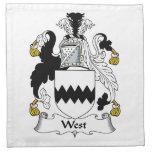 Escudo del oeste de la familia servilletas de papel