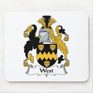 Escudo del oeste de la familia tapete de ratones