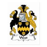 Escudo del oeste de la familia tarjeta postal