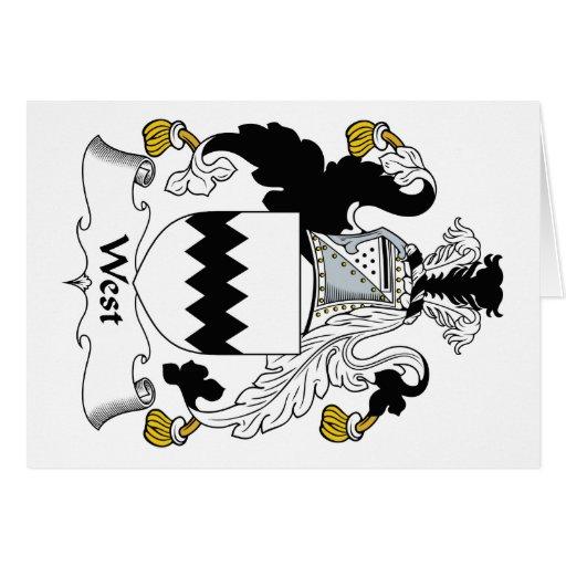 Escudo del oeste de la familia tarjetón