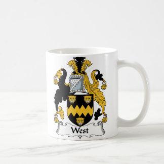 Escudo del oeste de la familia taza de café
